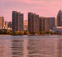 Detroit Skyline 9/24/10 by Barry W  King