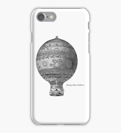 Vintage Hot Air Balloon - Montgoltiers iPhone Case/Skin
