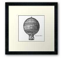 Vintage Hot Air Balloon - Montgoltiers Framed Print