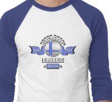 Super Smash Classic Blue Team Men's Baseball ¾ T-Shirt
