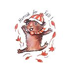 Guinea Pig in the Fall by Emma Kaufmann