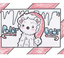 Polar Bear Christmas Card by Drawingsbymaci