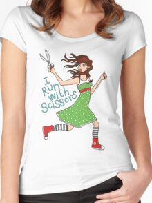 I Run With Scissors Women's Fitted Scoop T-Shirt