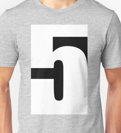 """5"" typography Unisex T-Shirt"