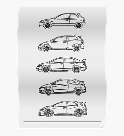 Civic Type R Evolution Poster