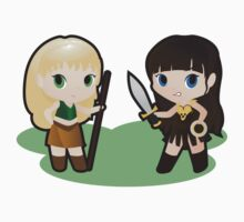 Geek Babies: Xena & Gabrielle Kids Clothes