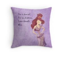 Hercules inspired design (Meg) Throw Pillow