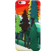 Evening Forest acrylic painting iPhone Case/Skin