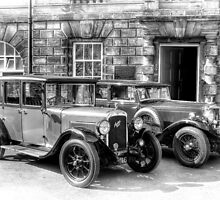 Austin Six and Invicta Cars - black and white by © Steve H Clark Photography