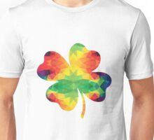 Buntes Kleeblatt Unisex T-Shirt
