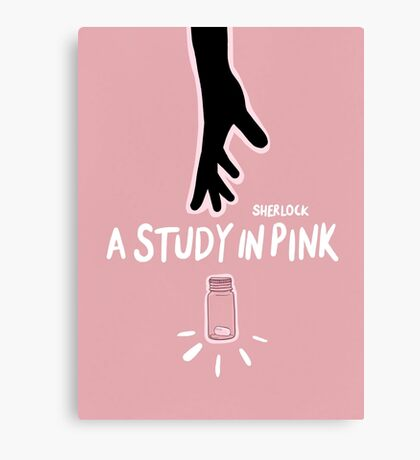 A Study in Pink  Canvas Print