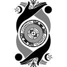 Spiritual Compass (black) by IggyMarauder