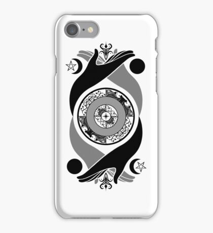 Spiritual Compass (black) iPhone Case/Skin