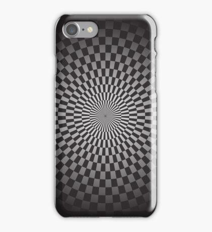Round geometrical background iPhone Case/Skin