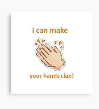 Handclap Emoji Canvas Print