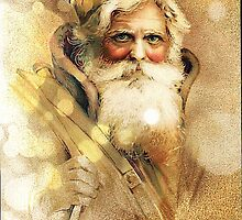 Golden Bokeh vintage Santa Claus by stine1