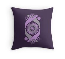 Spiritual Compass (lavender) Throw Pillow