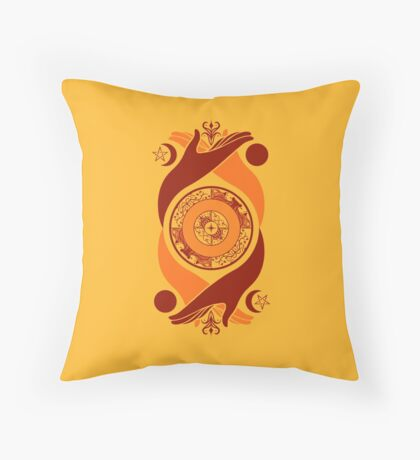 Spiritual Compass (fire) Throw Pillow
