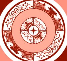 Spiritual Compass (fire) Sticker