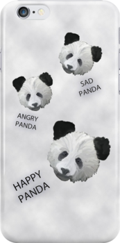 Panda Feelings iphone case, card and t-shirt AKA The Emotional Panda by Corri Gryting Gutzman