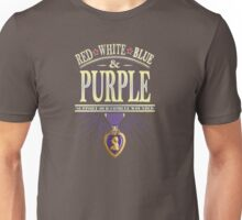 Red White Blue and Purple Support Our Combat Wounded Tee Unisex T-Shirt