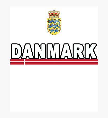 Danmark Danish National Team Jersey Style Photographic Print