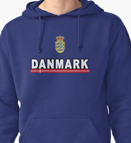 Danmark Danish National Team Jersey Style Pullover Hoodie