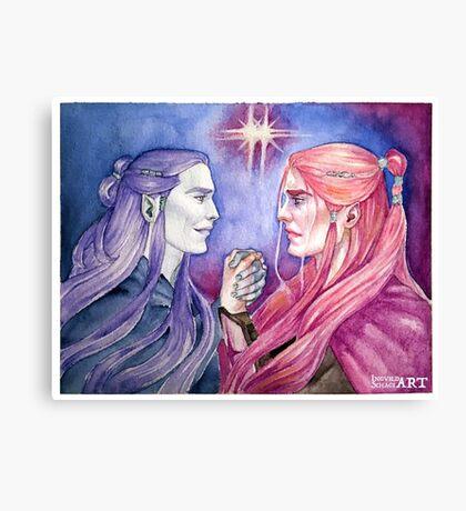 Twin Stars Canvas Print