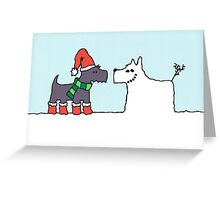 Snowdog Greeting Card
