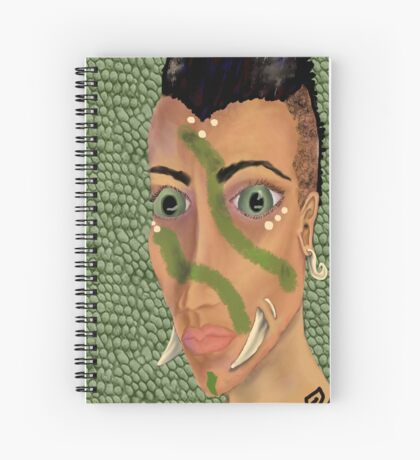 Young Orcish Woman Spiral Notebook