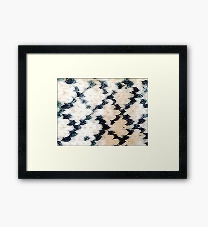 Fuzzy Daimonds Framed Print