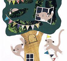 Monkey Treehouse by Susannah Burton-Hopkins