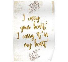 I carry your heart Poster