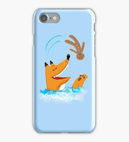 The fox and the gingerbread man iPhone Case/Skin