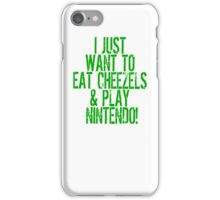 Eat cheezels play Nintendo iPhone Case/Skin