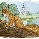 Red Russian Squirrel 449 by schukinart