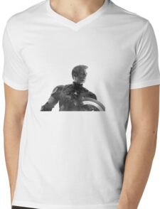Starry Capitan America Mens V-Neck T-Shirt