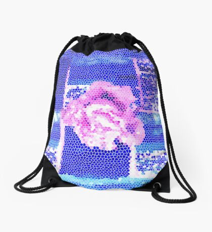 A Rose In The Water by Nikki Ellina Drawstring Bag