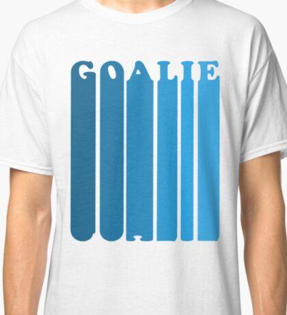 Retro 1980's Style Hockey Goalie Silhouette T-Shirt Goalie Soccer Hockey Sport Lacrosse Classic T-Shirt