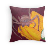 Spider in the Compost Throw Pillow