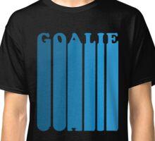 Retro 1970's Style Hockey Goalie Silhouette T-Shirt Goalie Soccer Hockey Sport Lacrosse Classic T-Shirt