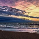 Beach at Sunset by Vicki Field