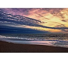 Beach at Sunset Photographic Print