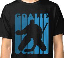 Retro 1970's Style Hockey Goalie Silhouette T-Shirt Goalie Hockey Sport  Classic T-Shirt