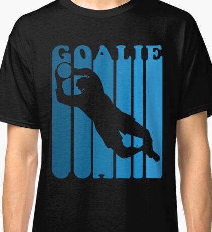 Retro 1970's Style Soccer Goalie Silhouette T-Shirt Goalie Soccer Sport  Classic T-Shirt