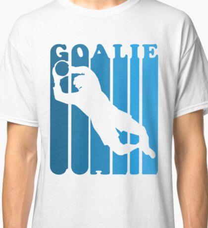 Retro 1980's Style Soccer Goalie Silhouette T-Shirt Goalie Soccer Sport  Classic T-Shirt