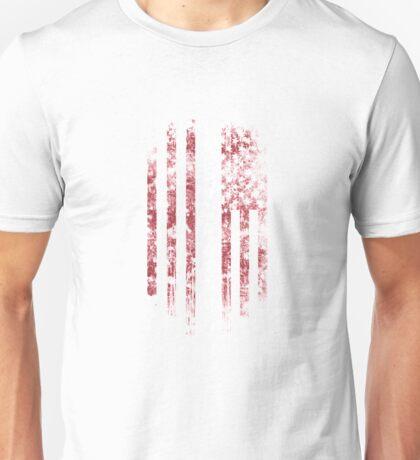Latvia and America Flag Combo Distressed Design Unisex T-Shirt