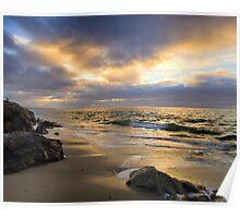 Golden Hour at Goleta Beach Poster