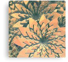 Abstract Orange Flowers Canvas Print