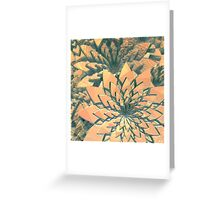 Abstract Orange Flowers Greeting Card